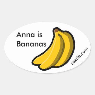 Anna is Bananen Promo Ovale Sticker