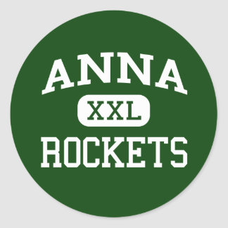 Anna - Raketten - Anna Middelbare school - Anna Ronde Sticker