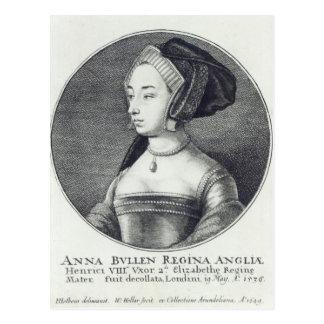 Anne Boleyn, etste door Wenceslaus Hollar, 1649 Briefkaart