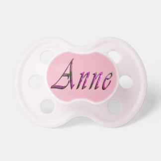 Anne, Naam, Logo, Model van de Fopspeen van de