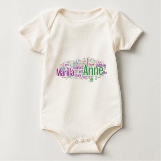 Anne van de Groene Wolk van Word van Geveltoppen Baby Shirt