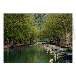 Annecy, Frankrijk dankt u kaardt Wenskaart