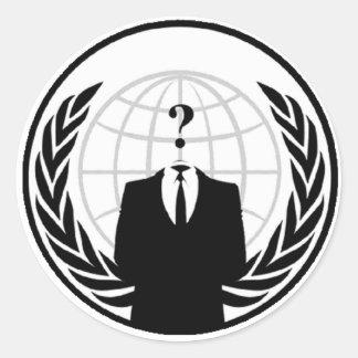 Anoniem Internationaal Logo Ronde Sticker