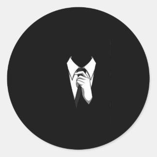 Anoniem Kostuum en Stropdas Ronde Stickers