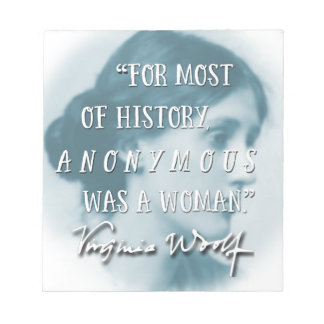 Anoniem was een het citaatblauw van de Vrouw ~ Notitieblok