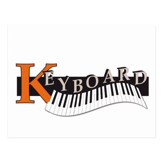 """ansichtkaart """"Keyboard"""" design Briefkaart"""