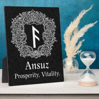 Ansuz-rune/Welvaart, Vitaliteit Fotoplaat