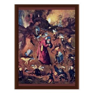 Anthony met Monsters. Door Hieronymus Bosch Briefkaart