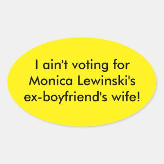 Anti - de bumpersticker van Hillary Clinton Ovale Sticker