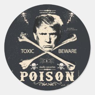 Anti de Presidentiële Verkiezing van het Vergift Ronde Sticker