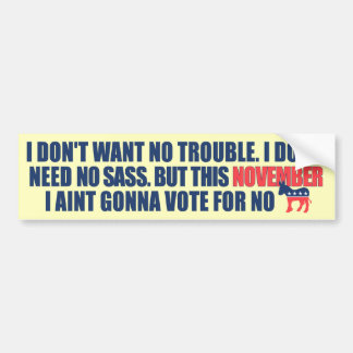 Anti Democraat AntiObama Bumpersticker