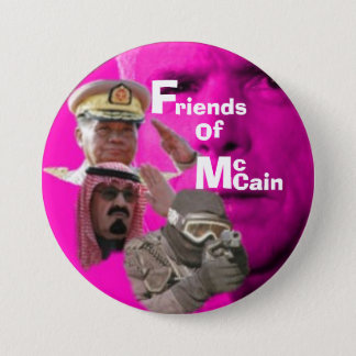 Anti-McCain Knoop… Ronde Button 7,6 Cm