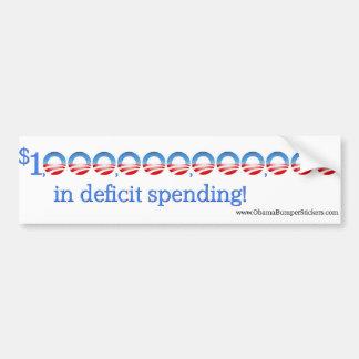 """Anti-Obama """"1 triljoen in tekort die """" besteden Bumpersticker"""