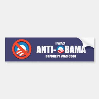 Anti-Obama bumpersticker - ik was voordien anti-Ob