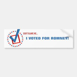 Anti Obama die ik voor Republikeinse Politiek Romn Bumpersticker