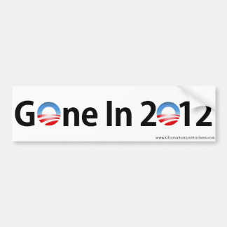 "Anti-Obama ""Gegaan in 2012 "" Bumpersticker"
