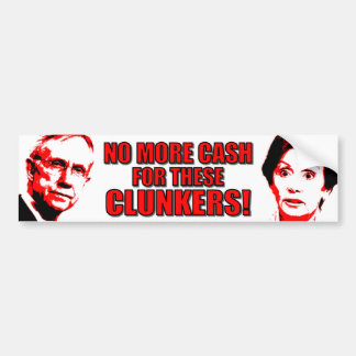 Anti Pelosi - AntiReid - Clunkers Bumpersticker