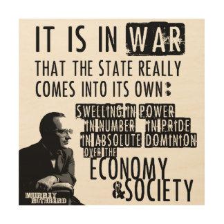 Anti-War Libertarian anti-Staat van Rothbard van Hout Afdruk