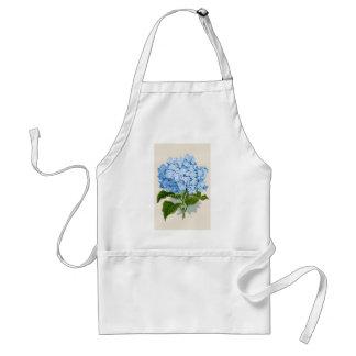 Antiek Botanische Romantische Blauwe Hydrangea hor Standaard Schort