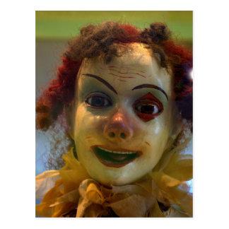 antiek clown briefkaart