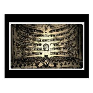 Antiek de zwart-witte foto van balletScala Milaan Briefkaart
