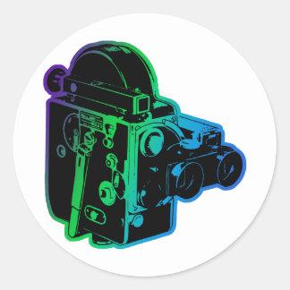 antiek-film-nok ronde sticker