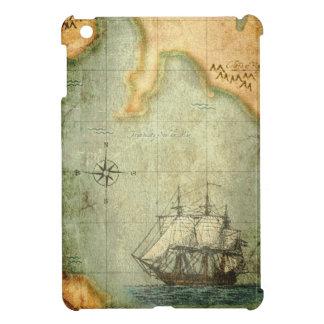 Antiek kaart & Schip Hoesje Voor iPad Mini