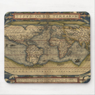 Antiek Kaart van de Wereld Muismat