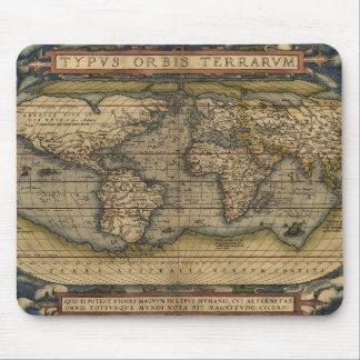 Antiek Kaart van de Wereld Muismatten