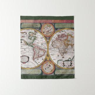 Antiek Kaart | van de Wereld Tapijtwerk Wandkleed