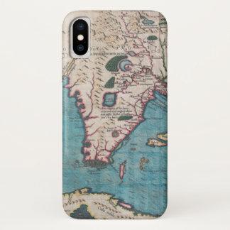 Antiek Kaart van Florida en Cuba iPhone X Hoesje