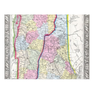 Antiek Kaart van Vermont & c. Van Newhampshire Briefkaart