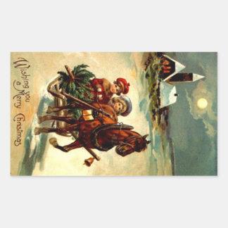 Antiek Kerstmis Gr. Één van de sticker de Open Ar