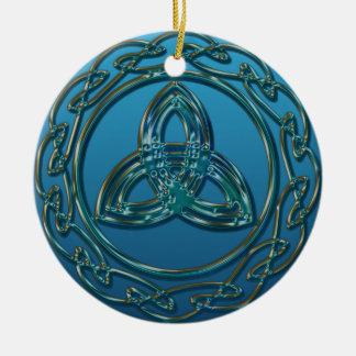 Antiek kijk de Keltische Knoop van de Rond Keramisch Ornament