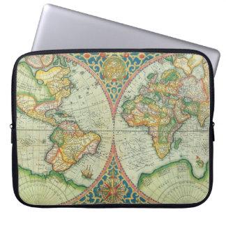 Antiek laptop van de Kaart hoesje Computer Hoes