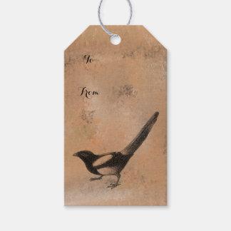 Antiek Rustieke Vogel Cadeaulabel