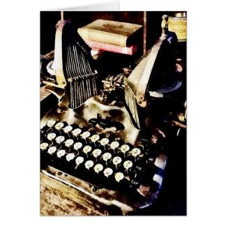 Antiek Schrijfmachine Oliver #9 Kaart