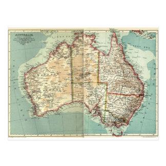 Antiek Vintage Australische continent Briefkaart