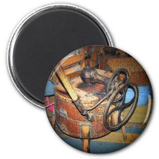 Antiek Wasmachine Ronde Magneet 5,7 Cm