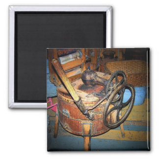 Antiek Wasmachine Vierkante Magneet