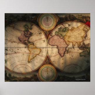Antiek wereldkaart 2 poster