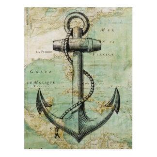Antiek ZeevaartKaart met Anker Briefkaart