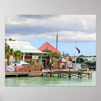 Antigua, Eiland in de Caraïben Poster