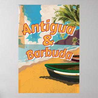 Antigua en Vintage de vakantiePoster van Barbuda Poster