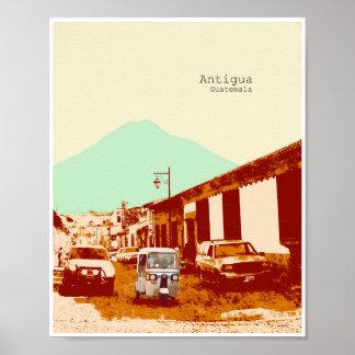Antigua Guatemala Tuc Tuc en het Poster van de
