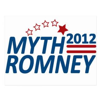 AntiMitt 2012 van Romney van de mythe Briefkaart