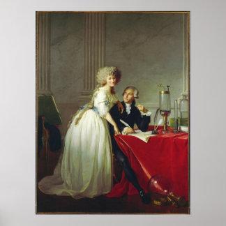 Antoine-Laurent Lavoisier en Vrouw Poster