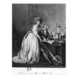 Antoine Laurent Lavoisier en zijn vrouw Briefkaart