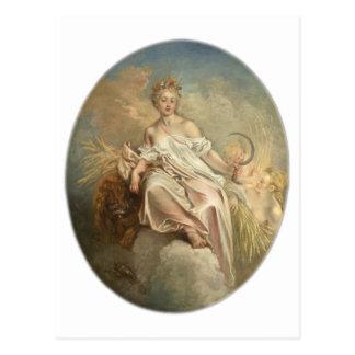 Antoine Watteau Ceres (de Zomer) c1717-1718 Briefkaart