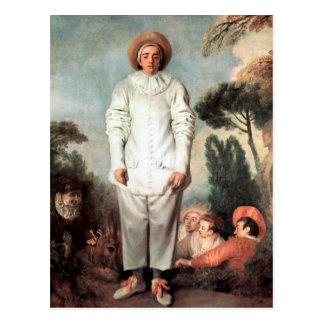 ANTOINE WATTEAU - Pierrot (Gilles) 1718 Briefkaart